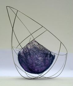 felt and wire pieces are by Irish artist Emer Duffy....inspiration for purse/art; no need to fill in between all the wire...c