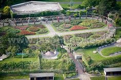 Aerial photographs Southsea Rose Garden on Jason Hawkes Aerial Photography Isle Of Wight, Portsmouth, Aerial Photography, Hampshire, Dolores Park, Past, England, Gardens, Sea