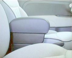 FIAT 500 Armrests with large storage in black Italian Real leather