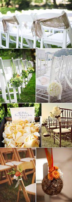 Los arreglos para sillas no pueden faltar en toda boda