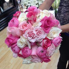 www.flowerhillflowers.com #fhflowers #pinkwhitetealbridalbqt