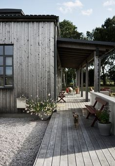Villa AK, Hamra, Gotland – M.Arkitektur – Villa AK, Hamra, Gotland – M. Villa Design, Cabin Design, Villa Tugendhat, Outdoor Spaces, Outdoor Living, Villas, Rustic Outdoor Decor, Outdoor Ideas, Modern Balcony