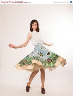 This skirt is so fun!   On Sale  50s Circle Skirt  1950s Mexican by concettascloset, $73.50