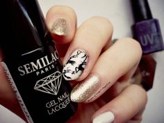 semilac 037 i NTN 57 gold deer nails