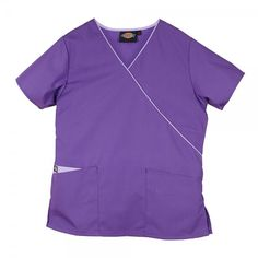 Looking for a new scrub top that's both stylish and value for money? Try the Dickies Mock Wrap Top in Orchid now for only £17.00. #nursescrubs #dentistuniform #nurses #dentists #purplescrubs