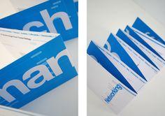 50 Amazing Brochure Layout Ideas by Designsmag Bold Typography, Graphic Design Typography, Lettering Design, Layout Design, Print Design, App Design, Mailer Design, Leaflet Design, Letterpress Business Cards