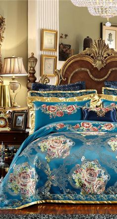 This Blue Luxury Bedding Set will improve your overall bedroom decor by transforming your bed into a Luxury Decor piece which makes it easier to decorate your bedroom around it. This bedding set will make your bed the centerpiece of your bedroom decor. Improve your overall decor and live in the perfect Luxury that you deserves with this amazing Luxury Bedding Set with 10 Pieces. Get this now with FREE Worldwide Shipping and FLAT 40% DISCOUNT. #bedding #duvet #bedroom #decor #homedecor