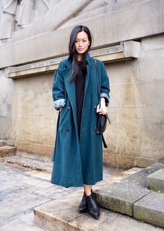 Long coat & ankle boots