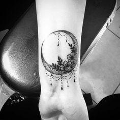 Crescent Moon Tattoo for Women's Wrist Tattoo Ideas