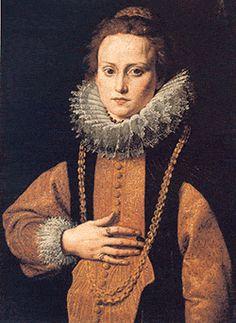 Antonio di Giovanni D'Enrico detto Tanzio da Varallo  (Riale d'Alagna VC, 1580 - Varallo Sesia 1632/33) - Ritratto di gentildonna