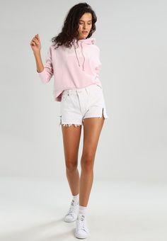 Levi's® CROPPED GRAPHIC HOODIE - Jersey con capucha - batwing light lilac - Zalando.es