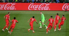 England goalkeeper Jordan Pickford reacts to his penalty shootout heroics vs Colombia England National Team, England Fans, Gareth Southgate, England Football, World Cup 2018, Goalkeeper, Get Well, Bedroom Ideas, Adidas