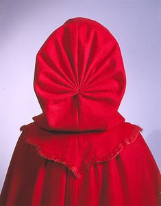 """Wool Cape, dated """"last third 18th century,""""  American or European. Met # C.I.69.4. Four views available. Found via the 18th Century Notebook."""