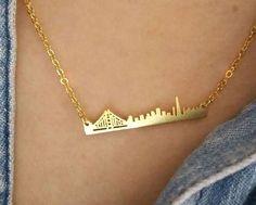 San francisco necklace, SF necklace / 18k Gold, Silver / layered necklace /City Skyline necklace, wedding jewelry , Gift , custom necklace