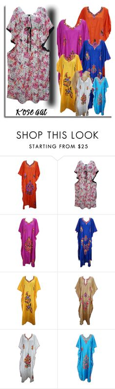 """""""MOTHER'S DAY SPECIAL BOHEMIAN LOUNGE WEAR KAFTAN"""" by era-chandok ❤ liked on Polyvore"""