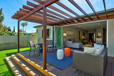 The wooden pergola is a good solution to add beauty to your garden. If you are not ready to spend thousands of dollars for building a cozy pergola then you may devise new strategies of trying out something different so that you can re Diy Pergola, Small Pergola, Pergola Attached To House, Pergola Swing, Deck With Pergola, Outdoor Pergola, Cheap Pergola, Wooden Pergola, Covered Pergola