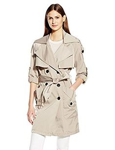 Amazon.com: BCBGeneration Women's Double Breasted Trench: Clothing