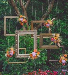Backdrop... This could be really neat in between the two trees that would be near the reception tent area