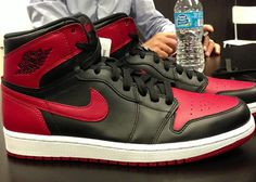 ef222937a9d7d2 Here is a new image of the 2013 Air Jordan 1 Retro High OG Black  Red  Sneaker which I am sure will be impossible to get for retail whenev.