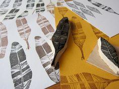 feather stamps by Alex Michiardi, via Flickr