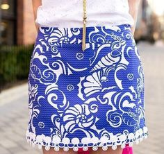 Lilly Pulitzer Marigold Lace Trim Skort worn by @Kelly in the City
