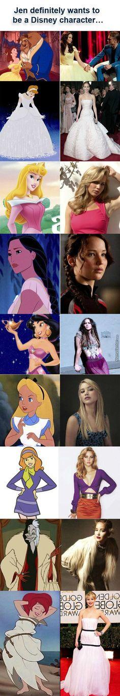 Ha but since when are Curella De Vil and Daphne Disney princesses? Scooby Doo isn't even Disney. If Jennifer Lawrence can be a disney princess so can i :x Walt Disney, Disney Pixar, Disney And Dreamworks, Disney Love, Disney Magic, Disney Characters, Funny Disney, Disney Stuff, Female Characters