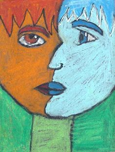 Art Projects for Kids: Picasso Pastel Portraits