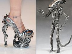 Shoes inspired by the great designer Alexander McQueen. Shame they were runway only !!