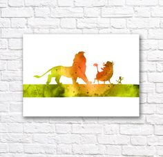 Hey, I found this really awesome Etsy listing at https://www.etsy.com/listing/216307400/lion-king-watercolor-wall-art-poster