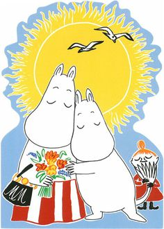 A Moomin postcard, from Finland! Moomin Wallpaper, Bear Wallpaper, Tove Jansson, We Bare Bears Wallpapers, Moomin Valley, Childhood Stories, Troll, Fairy Tales, Character Design