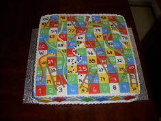 snakes & ladders birthday cake - Google Search