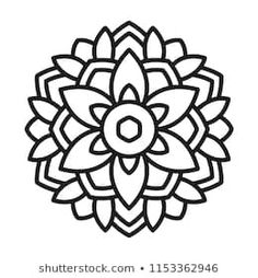 Find mandala stock images in HD and millions of other royalty-free stock photos, illustrations and vectors in the Shutterstock collection. Simple Mandala Tattoo, Easy Mandala Drawing, Mandala Art Lesson, Mandala Painting, Cross Coloring Page, Cute Coloring Pages, Mandala Coloring Pages, Coloring Book, Flower Mandala