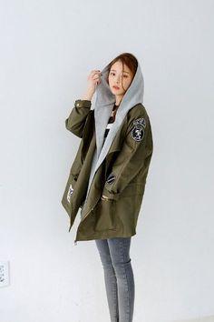 Coloration Hood M Jacket | Korean Fashion