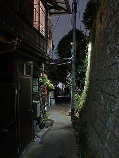 夜散歩のススメ「本郷の擁壁と路地」東京都文京区 - Retaining wall and alley of Hongo - Tokyo Bunkyo ku