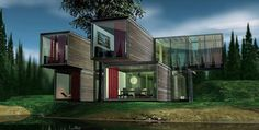 Glass Container House by Sandbox Ventures, via Flickr