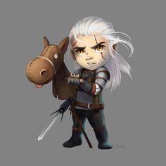 Geralt of Rivia the White Wolf by NikiVaszi.deviantart.com on @DeviantArt