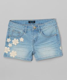 Look what I found on #zulily! Squeeze Light Blue Floral Denim Shorts by Squeeze #zulilyfinds