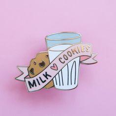 Milk and Cookies Enamel Pin