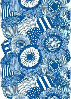 Nice doodle-y print  http://www.marimekko.com/products/interior-decoration/fabrics/cotton-fabrics/siirtolapuutarha-fabric-150