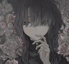 Dark Anime Girl, Cute Anime Boy, Anime Art Girl, Anime Guys, Pretty Art, Cute Art, Kawaii Anime, Hot Anime Couples, Anime Monochrome