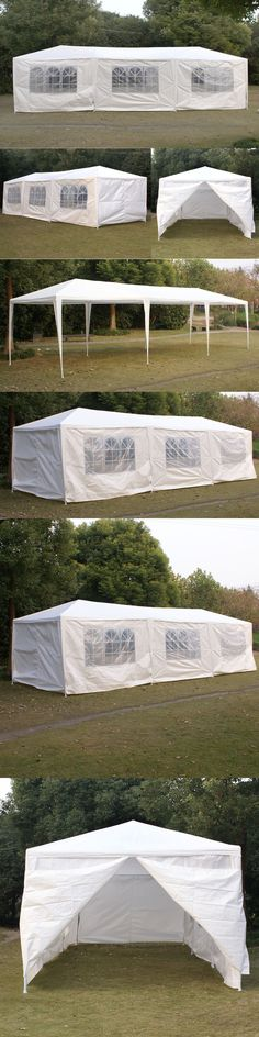 Marquees and Tents 180994 Outdoor 10X30 Canopy Party Wedding Tent Gazebo Pavilion Cater Events W & Marquees and Tents 180994: 20 X 30 White Canopy Pole Tent Economy ...