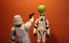 Star wars stormtroopers funny toys miniature apples wallpaper background
