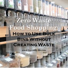 If you want to try bulk food shopping too, I've created a guide to help walk you through it. Here's how to start zero waste food shopping at the bulk bins without creating waste. Zero Waste Grocery Store, Orange Peel Vinegar, Vinegar Cleaner, Bulk Food, Dishwasher Detergent, Diy Cleaners, Glass Jars, Sustainable Living, Cleaning Products