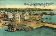 Bremerton Washington WA 1913 Puget Sound Navy Yard Antique Vintage Postcard - Moodys Vintage Postcards - 1