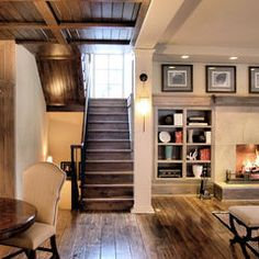 traditional living with rustic elements