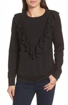 Women's Halogen Ruffle Ponte Sweater