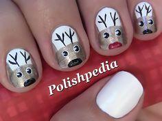 Reindeer Christmas Nail Art (Video) sooo cute
