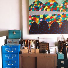 Love the bright colors! Design*Sponge | Studio Tour: Amelie Mancini