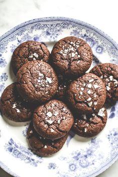 Baking Magique   Salted Lavender Chocolate Buckwheat Cookies   http://www.bakingmagique.com
