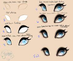 Eyes Step by Step by jessoterick.deviantart.com on @DeviantArt